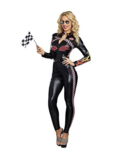 Dreamgirl Women's Start Your Engines, Multi, L