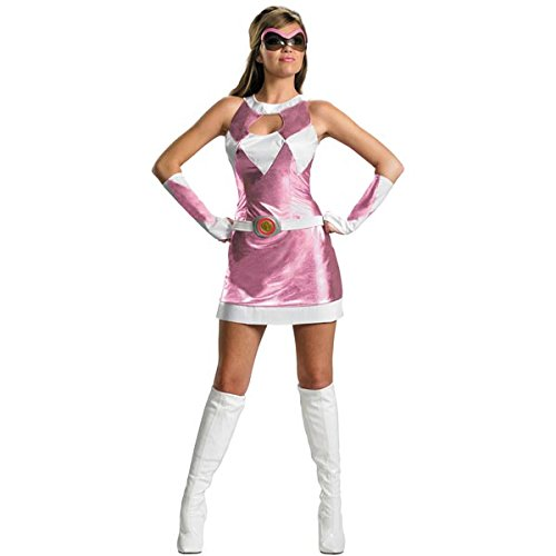 Power Rangers Costume Ideas (Disguise Women's Saban Power Rangers Mighty Morphin Pink Ranger Sassy Deluxe Costume, Pink/White, Medium)