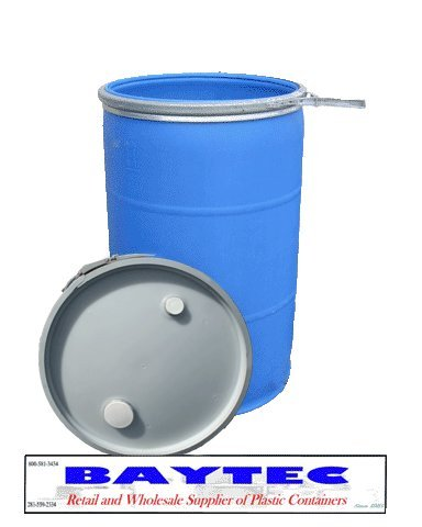 BayTec 55 Gallon Drum Plastic Food-Grade Reconditioned Open-head this Item Ships For Free! (55 Drums Used Gallon Plastic)