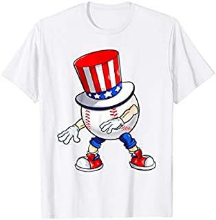 Flossing Baseball With USA Hat Patriotic 4th Of July T-shirt   Size S - 5XL