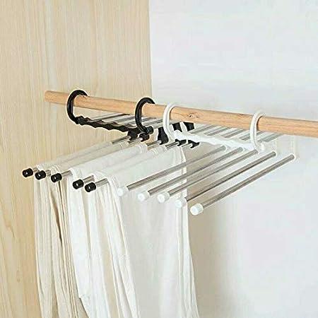 Perchas multifuncionales para Pantalones KongLyle 5 en 1, 2 Unidades