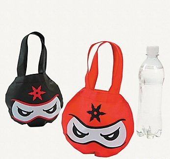Ninja Party Favor Tote Bags - 12 ct