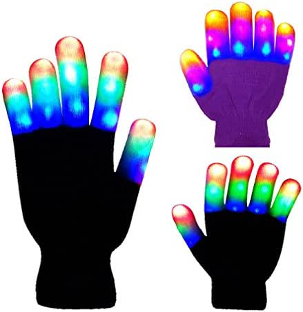 The Noodley's Flashing LED Light Gloves - Kids Size and Adult Size - Extra Batteries