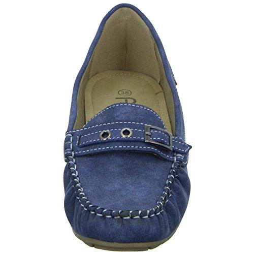 Alyssa Damen Slipper Halbschuh Casual Blau (Blau)