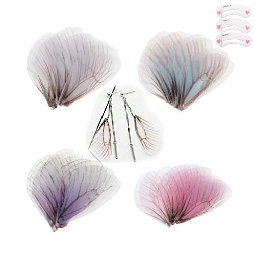 (Coobbar 20Pcs Fashion Butterfly Wing Jewelry Charms Earring Findings DIY Crafts (Mixed))