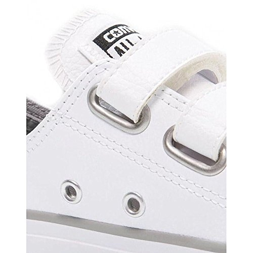 Converse Chuck Taylor All Star 2V Infant White Leather Trainers White/Dolphin
