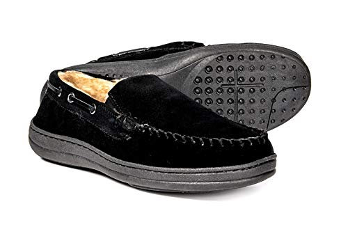 Rockport Venetian Genuine Suede Twin Gore Slippers (for Men) - Black - Size 10M