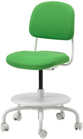 Ikea Silla de Escritorio Infantil, Color Verde Brillante