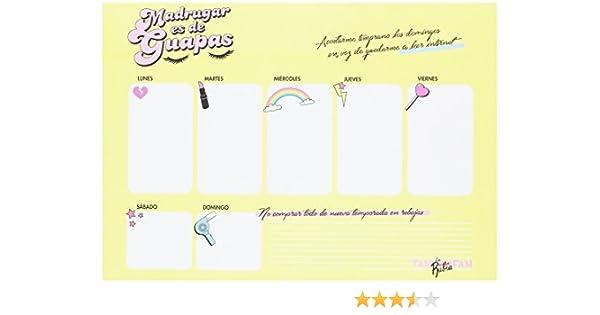Planificador marca TANTANFAN de la línea LA VECINA RUBIA: Amazon.es: Oficina y papelería
