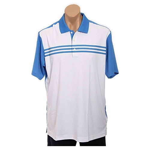 Adidas Golf Climacool Oasis (adidas Golf Men's Climacool 3-Stripes Color Block Polo Shirt, White/Oasis, Large)