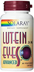 Solaray Lutein Eyes Advanced Supplement, 24 mg, 60 Count