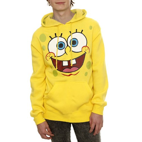 SpongeBob Face Adult Hoodie-Medium ()
