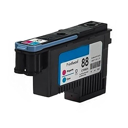 QINK 1 Pack for HP 88 Printhead Cyan & Magenta C9382A for HP Officejet Pro K5400 K5400dtn K5400dn K5400tn K550 K550dtn K550dtwn K8600 K8600dn
