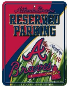 Braves Street Atlanta Sign - MLB Atlanta Braves Parking Sign