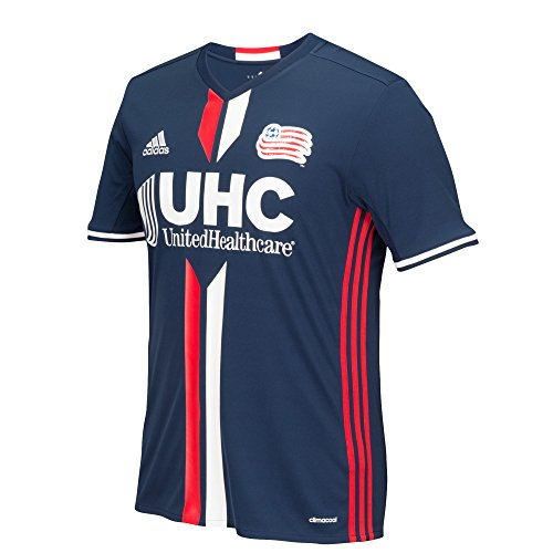 T-shirt Player Jersey Replica (MLS New England Revolution Jermaine Jones #13 Men's Replica Short Sleeve Player Jersey, Dark Indigo, Medium)