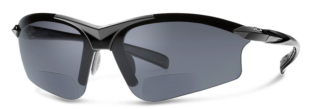 G5 Bifocal Reading Sunglasses | Sun Readers Designed for Sports and Casual Use With Wrap-Around Fit | Made from Highest Quality Materials (Black Frame/Gray Lenses, 1.5)