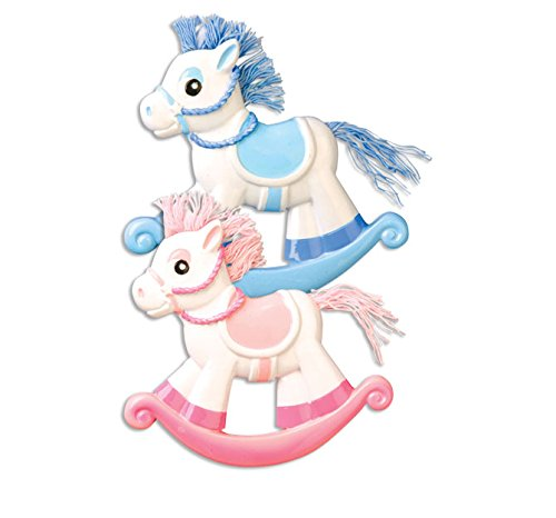 Grantwood Technology Personalized Christmas Ornaments Baby's First- Rocking Horse ()