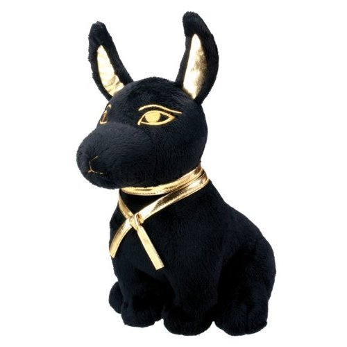 Black and Gold Ancient Egyptian Anubis Dog Puppy Plush Doll ()