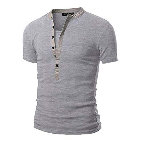 Amazon.com: Alalaso Mens Summer Casual Solid Patchwork V-Neck Short Sleeved T-Shirt Top Blouse: Clothing