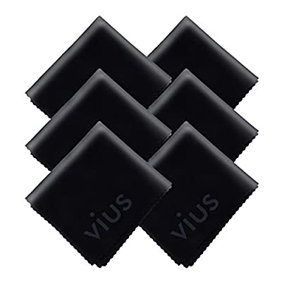 Microfiber Cleaning Cloth - vius Premium Microfiber Cloth for All LCD Screens, Computers, Lenses and Delicate Surfaces by vius