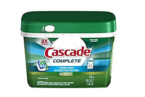 Cascade Complete ActionPacs Dishwasher Detergent Fresh Scent 46 Ct (Plumbing Washer Set)