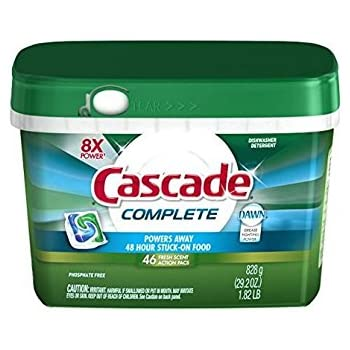 Cascade Complete ActionPacs Dishwasher Detergent Fresh Scent 46 Ct