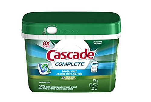 Price comparison product image Cascade Complete ActionPacs All-in-1 Dishwasher Detergent - 46 ct