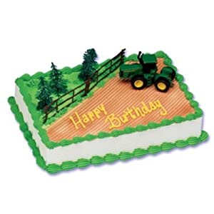 Amazoncom John Deere Cake Topper Decorating Kit by Bakery Crafts