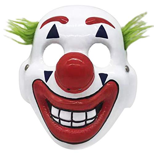 Halloween 2019 Dc Clubs (Joker Mask with Arthur Fleck 2019 Cosplay DC Movie Clown Halloween Costume Mask-Showing)