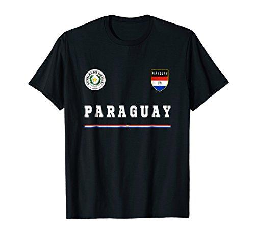 (Paraguay T-shirt Sport/Soccer Jersey Tee Flag Football)