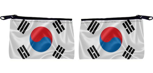 Rikki Knight Korea, South Flag Design Scuba Foam Coin Purse