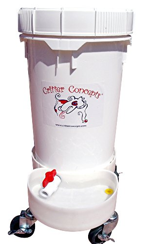 Dog Water Dispenser 6.5 Gallons by Critter Concepts, The Automatic Dog Waterer that is virtually indestructible, used by dog daycares and dog pros. The last automatic water bowl that you will (Critter Water)