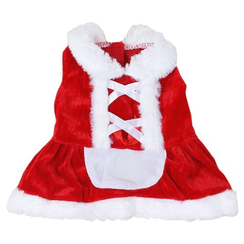 Colorfulhouse Christmas Dog Dress Cute Pet Costumes Pet Apparel for Small Dogs (L)