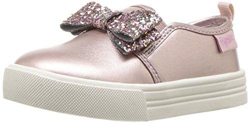 Pink Girls Slip On - OshKosh B'Gosh Girls' Maeve Sneaker, Pink, 10 M US Toddler