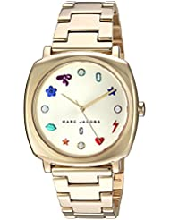 Marc Jacobs Womens Mandy Quartz Stainless Steel Casual Watch, Color:Gold-Toned (Model: MJ3549)
