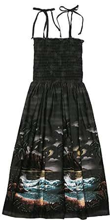 RJC Womens Moonlight Surf Elastic Tube Top Sundress in Black - S