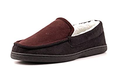Luckers Men's Brown/Black Loafer Slippers