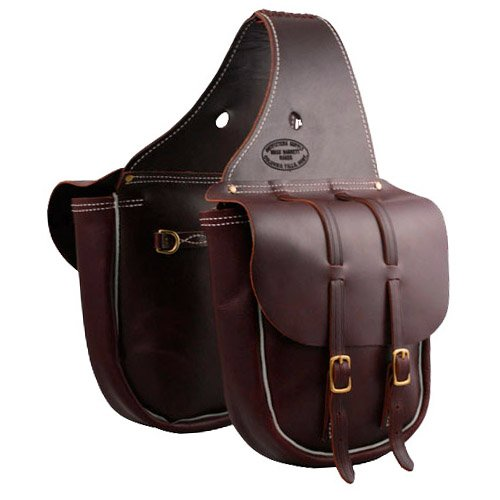 - Outfitters Supply Cavalry Saddle Bags: Two Buckle (3/4 Size) (Burgundy)