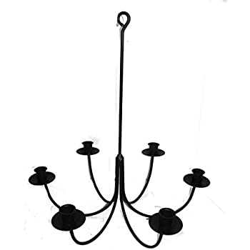 Amazon wrought iron 6 arm candle chandelier home improvement wrought iron 6 arm candle chandelier aloadofball Image collections