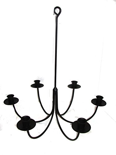 Wrought Iron 6 Arm Candle Chandelier - Chandelier Holder