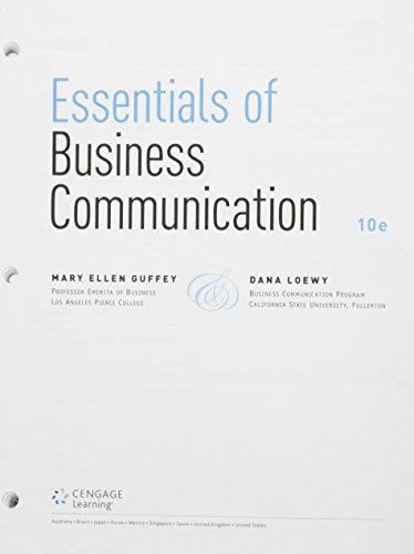 Bundle: Essentials of Business Communication, Loose-Leaf Version, 10th + Premium Website, 1 term (6 months) Printed Acce
