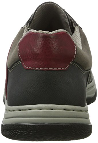 Rieker Men's 16323 Low-Top Sneakers Grey (Rauch/Schwarz/Wine/Fumo) for sale buy authentic online best store to get for sale outlet lowest price cheap sale top quality sale amazing price 9CnnJ