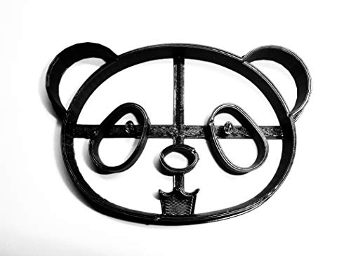 PANDA BEAR FACE BAMBOO EATING ANIMAL SPECIAL OCCASION COOKIE CUTTER BAKING TOOL 3D PRINTED MADE IN USA PR288