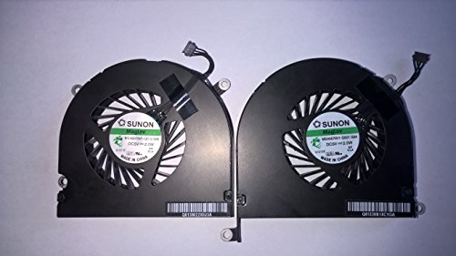 Left and Right Side CPU Cooling Fan Assembly For Apple MacBook Pro 15 A1286 (2008, 2009, 2010, 2011, 2012)