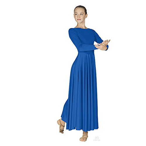 Polyester Dance (Eurotard Women's 13524 Adult Dance Dress (Royal, Large))