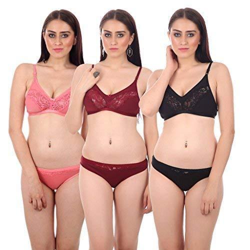Embibo Multicolor Hosiery Bra  amp; Panty Set for Women