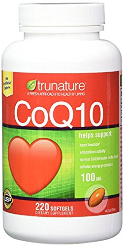 TruNature Coenzyme CoQ10 100 mg - Mega Value 6 Pack ( 220 Softgels Each) by TruNature