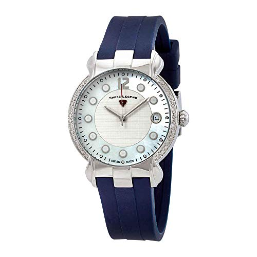 (Swiss Legend Women's Layla Stainless Steel Swiss-Quartz Watch with Silicone Strap, Blue, 16 (Model: 16591SM-02-BLS))