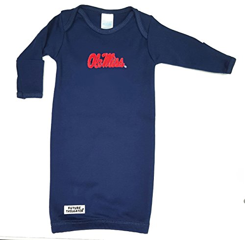 Future Tailgater Mississippi Ole Miss Rebels Baby Layette Gown