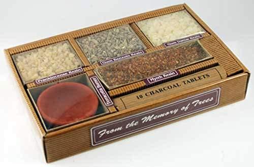 Resin Starter Kit Gift Pack with Burner and Charcoal Auroshikha Incense Gift Set